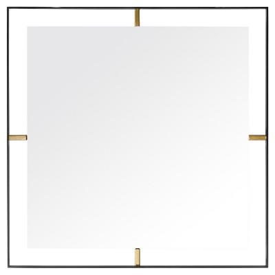 Framed Square Wall Mirror - Matte Black - Rogue Décor