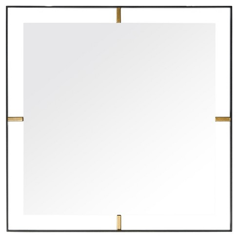 Framed Square Wall Mirror - Matte Black - Rogue Dcor - image 1 of 4