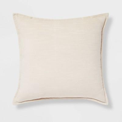 Cotton Velvet Square Pillow Cream - Threshold™