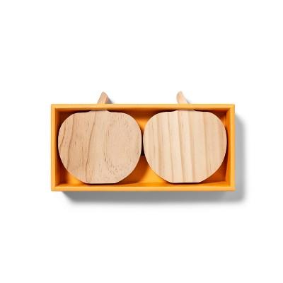 2pk Wood Pumpkin Small - Mondo Llama™