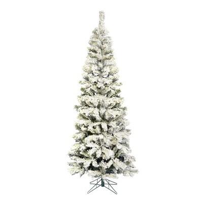 Vickerman Flocked Pacific Pencil Pine Artificial Christmas Tree