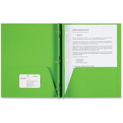 Sparco 2-Pocket Folder 3 Prong 25/BX Apple Green 78542