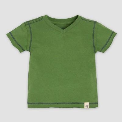 Burt's Bees Baby® Baby Boys' Organic Cotton Short Sleeve Reverse Seam V-Neck T-Shirt - Green 3-6M