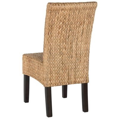 Set Of 2 Luz Wicker Dining Chair Natural - Safavieh : Target