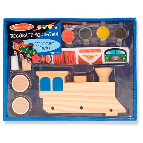 Melissa Doug Decorate Your Own Wooden Train Craft Kit