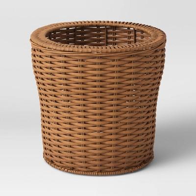 Manmade Wicker Woven Basket Brown - Smith & Hawken™