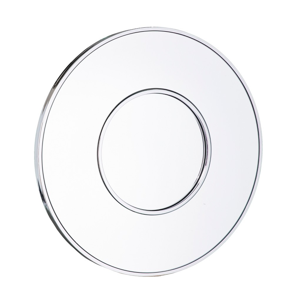 "Image of ""Aiden Lane 32""""x32"""" Morton Oversized Round Decorative Wall Mirror Chrome (Grey)"""