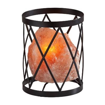 Trust Himalayan Salt Table Lamp (Includes Light Bulb) Black - Adesso