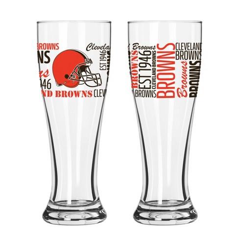 1aebdc838a2 Cleveland Browns 2pk Spirit Pilsner Glasses   Target