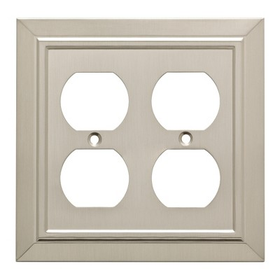 Franklin Brass Classic Architecture Double Duplex Wall Plate Nickel