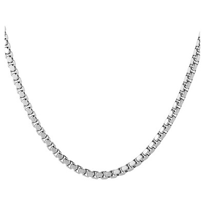Men's West Coast Jewelry Stainless Steel Box Chain Necklace