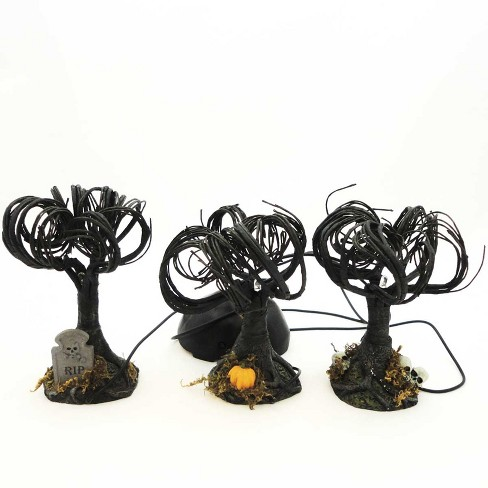 Dept 56 Accessories Haunted Sounds Lit Trees Set/3 Halloween Lighted  -  Decorative Figurines - image 1 of 2