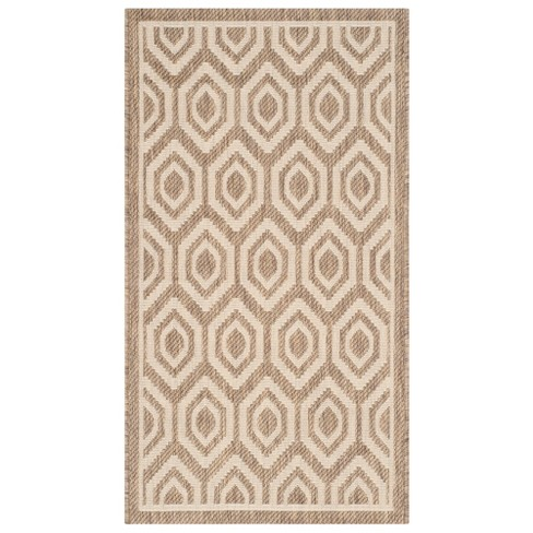 Biarritz Outdoor Rug - Brown / Bone - Safavieh® - image 1 of 4