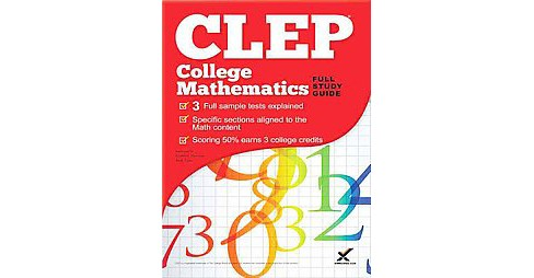 CLEP College Mathematics (Study Guide) (Paperback) (Andy Gaus & Kathleen Morrison) - image 1 of 1