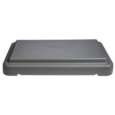 "Escalade Sports 4"" Stackable Aerobic Exercise Platform Step Deck - Gray"