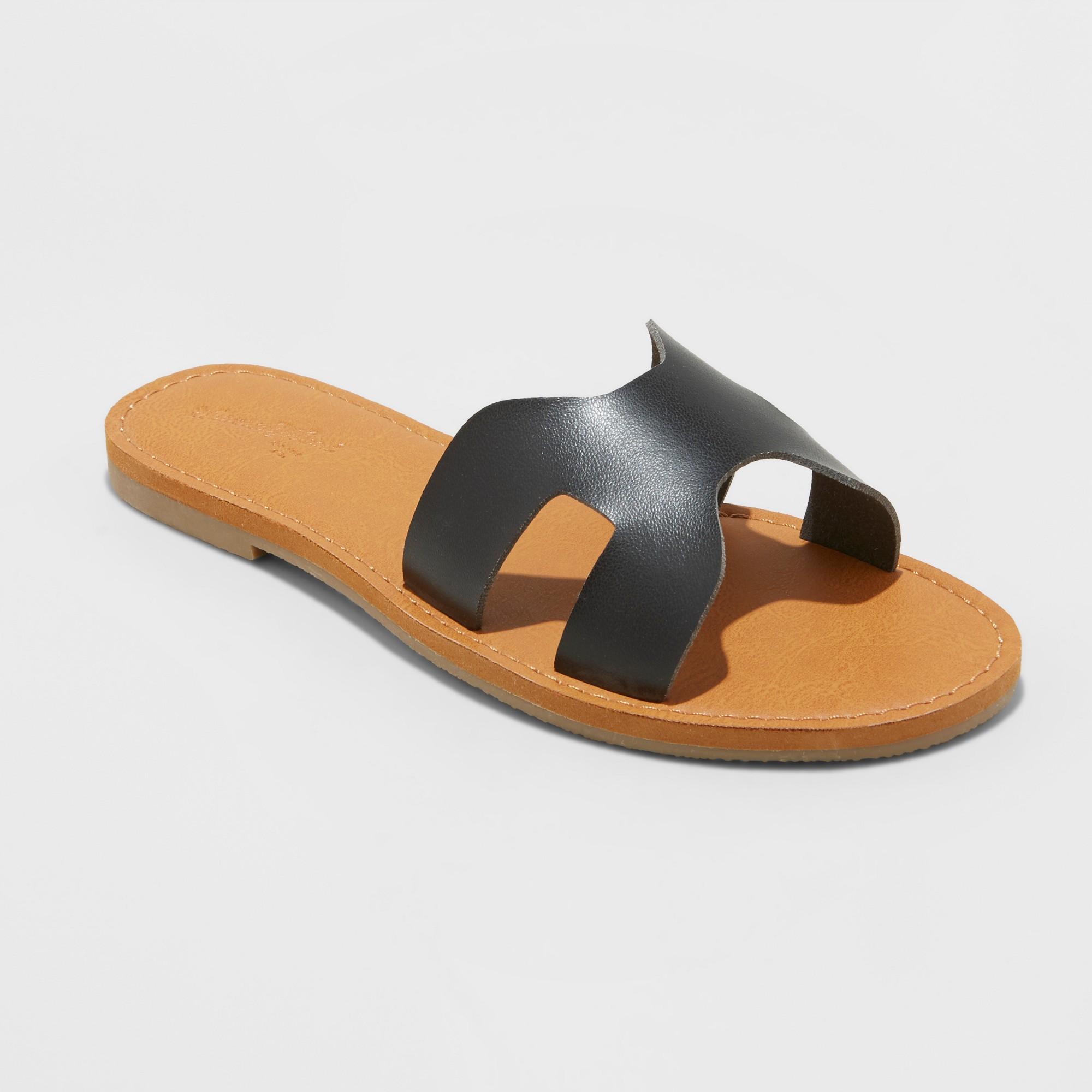 Women's Jenny Slide Sandals - Universal Thread Black 7.5