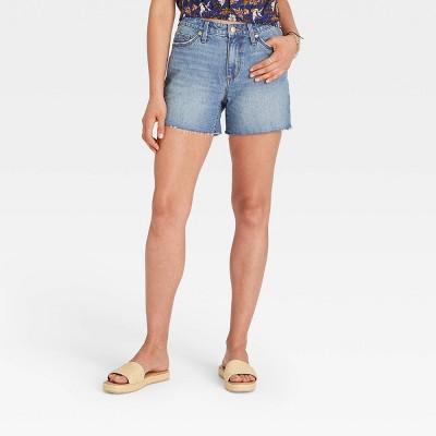 Women's High-Rise Curvy Midi Jean Shorts - Universal Thread™