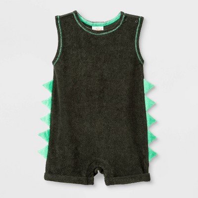 Baby Boys' 2pk  No Rest Wild  Striped Jersey Tank Romper - Cat & Jack™ Green 24M