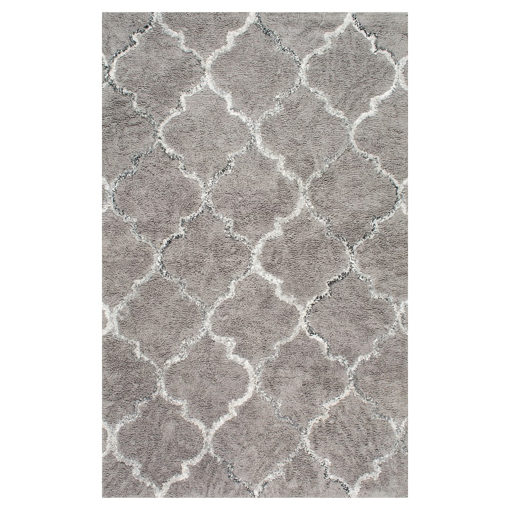 5'x8' Solid Area Rug Sterling Gray - nuLOOM