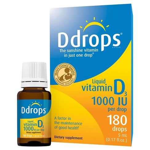Ddrops Vitamin D Liquid Drops 1000 IU - 5ml - image 1 of 4