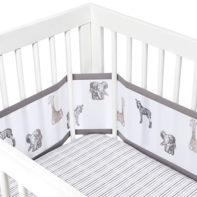 BreathableBaby 3pc Bedding Set Watercolor Animals - Gray