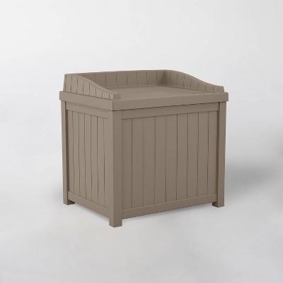 22gal Resin Storage Seat Dark Taupe - Suncast