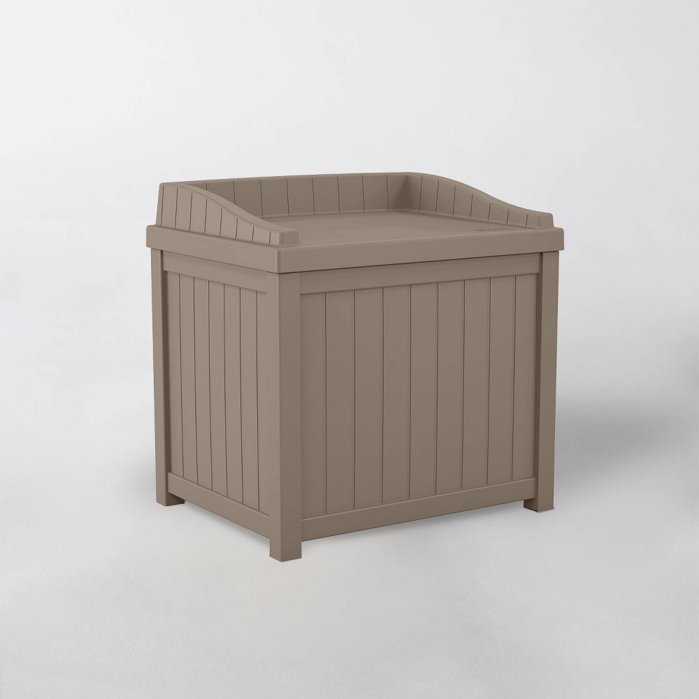 Image of 22gal Resin Storage Seat Dark Taupe - Suncast, Gray