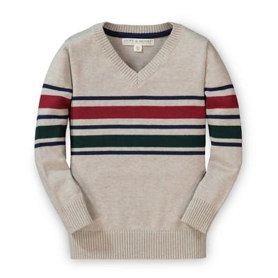 Hope & Henry Boys' Long Sleeve V-Neck Sweater, Infant