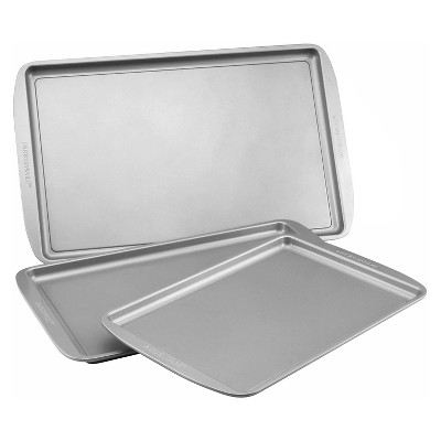 Farberware 3Pc Cookie Pan Set - Gray