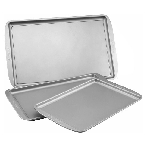 Farberware 3Pc Cookie Pan Set - Gray - image 1 of 3