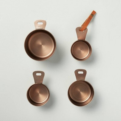 4pc Metal Measuring Cup Set Antique Copper - Hearth & Hand™ with Magnolia