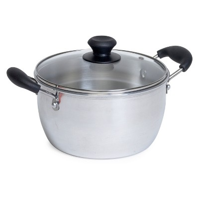 IMUSA 8qt Aluminum Pot with Glass Lid and Bakelite Handles