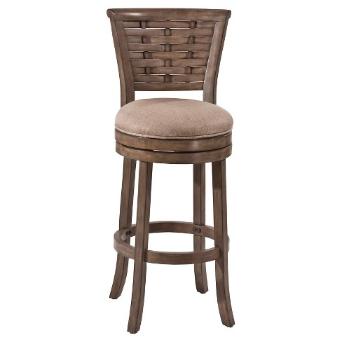 "Thredson Swivel 30"" Barstool Wood/Gold - Hillsdale Furniture - image 1 of 1"