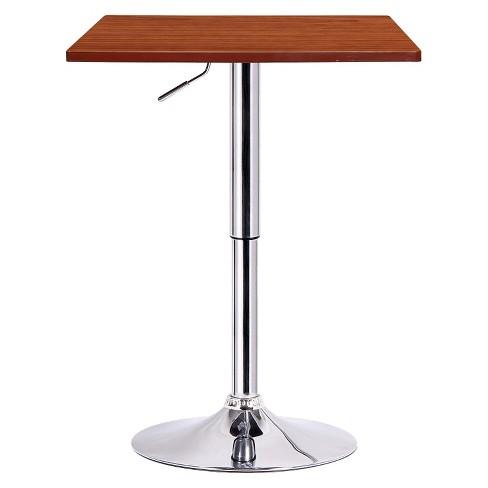 Luta Adjustable Pub Table Wood/Walnut - Boraam - image 1 of 1