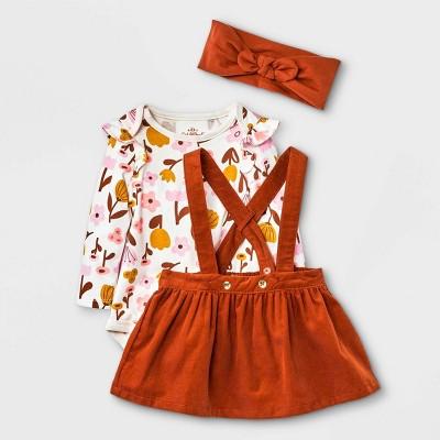Baby Girls' Corduroy Top & Skirtall Set - Cat & Jack™ 3-6M