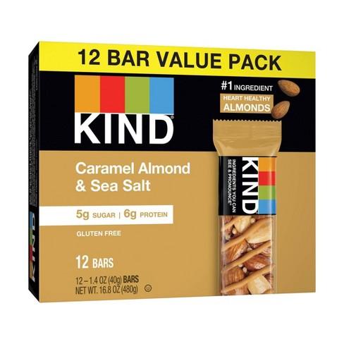 KIND Caramel Almond & Sea Salt Bars - 12ct - image 1 of 4