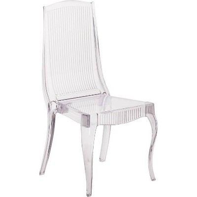 Flash Elegance Ghost Stacking Chair Crystal Ice - Riverstone Furniture Collection