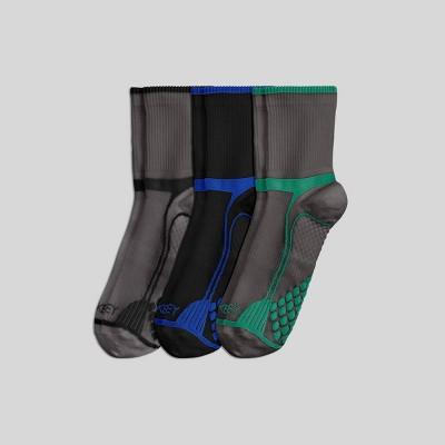 Jockey Generation™ Men's Diamond Cushion Comfort Friction Free 3pk Athletic  Quarter Socks - Gray/Jade/Blue/Black 7-12