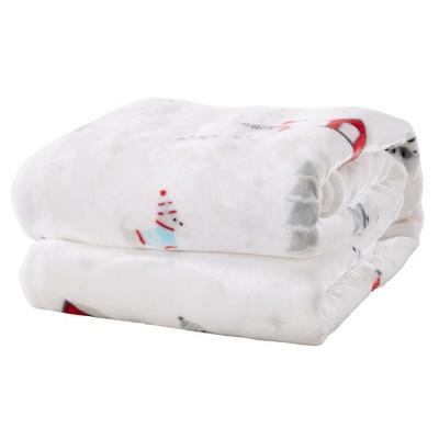 Great Bay Home Holiday Themed Velvet Plush Blanket