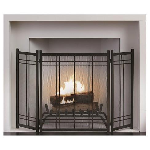 Enjoyable Pleasant Hearth Preston Fireplace Screen Vintage Iron Beutiful Home Inspiration Ommitmahrainfo