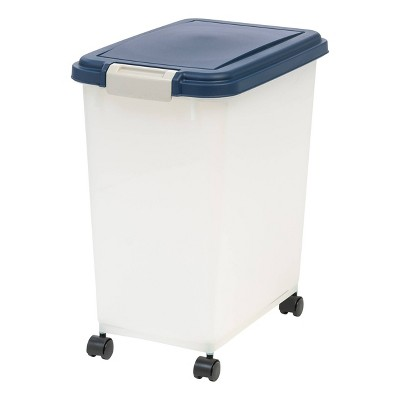IRIS Airtight Pet Food Storage Container - 25lbs - Navy/Pearl