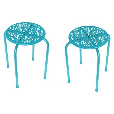 End Table Daisy Blue (Set of 2)- urb SPACE