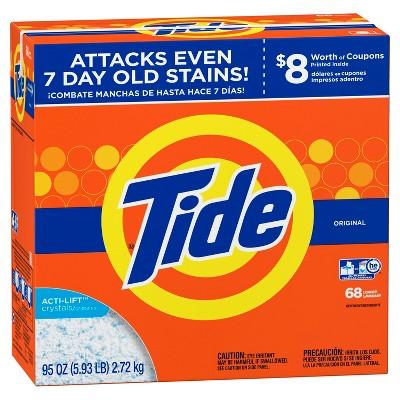 Tide Turbo Original High Efficiency Powder Laundry Detergent - 95oz