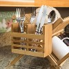 Home Basics Kitchen Silverware And Cooking Utensil Hanging Drying Rack, Bamboo - image 2 of 3