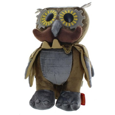 "Crowded Coop, LLC WhimWham 8"" Plush, Owl Mustache Steampunk"