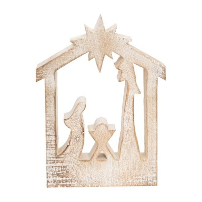 Gallerie II Carved Nativity Silhouette