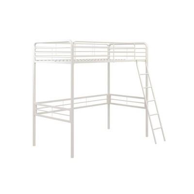 Twin Metal Loft Bed White - Room & Joy
