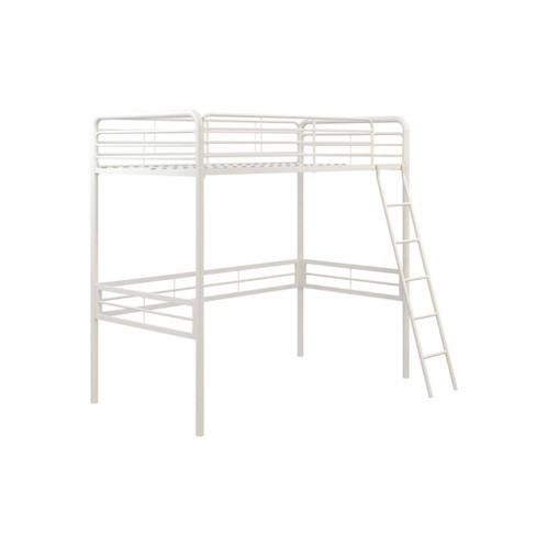 Twin Metal Loft Bed White - Room & Joy - image 1 of 4