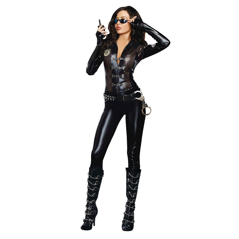 Image of Halloween Women's Special Ops Costume - Large, Black