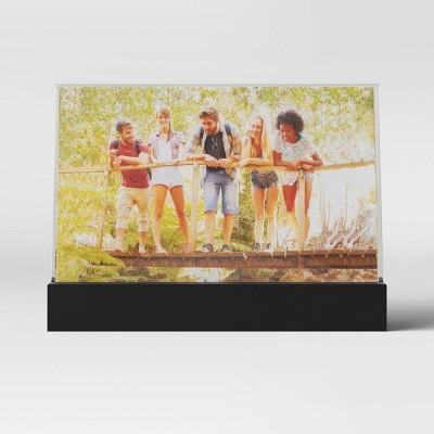 "5"" x 7"" Horizontal Acrylic Easel Black Frame - Room Essentials™"